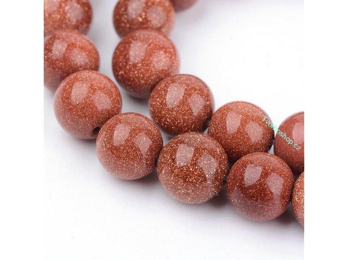 Goldstone červený 6 mm