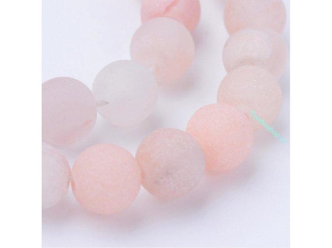Avanturín růžový frosted 6 mm