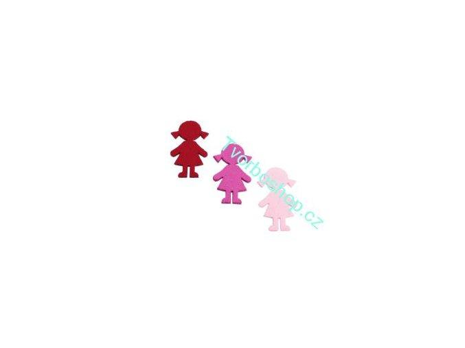 Výsek z filcu holka tmavě růžová
