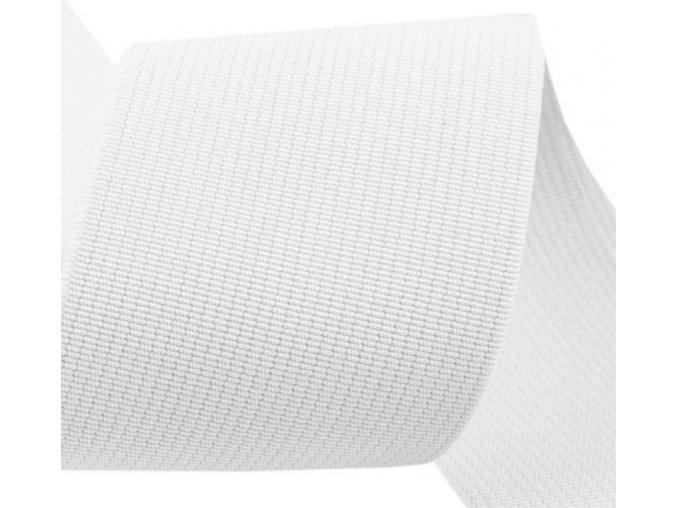Plochá guma 50 mm bílá