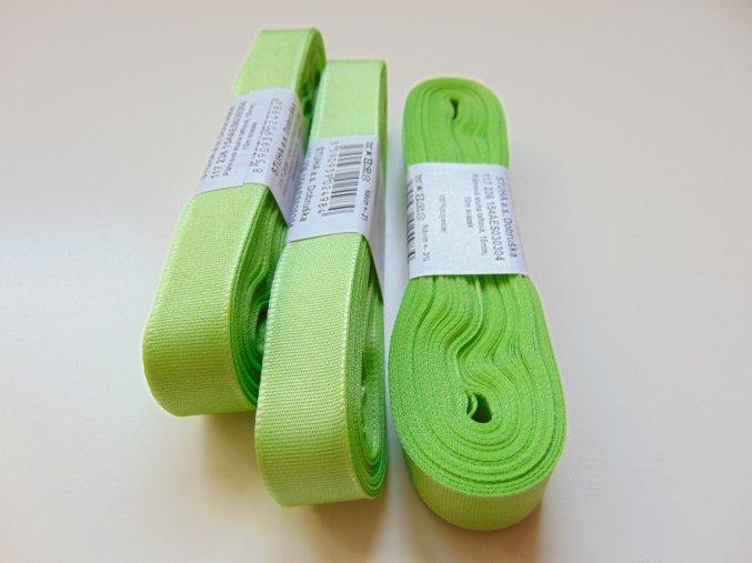 Stuha taftová světle zelená