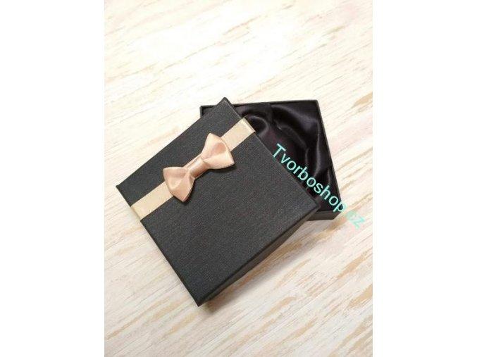 Dárková krabička s mašlí černá