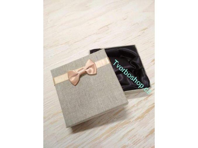 Dárková krabička s mašlí šedá