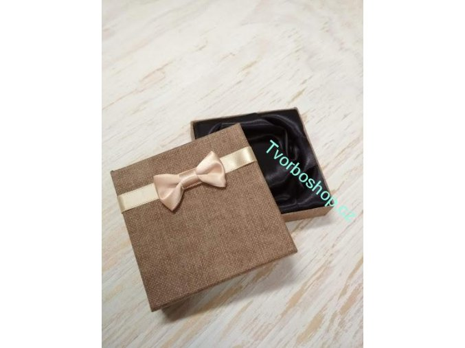 Dárková krabička s mašlí hnědá