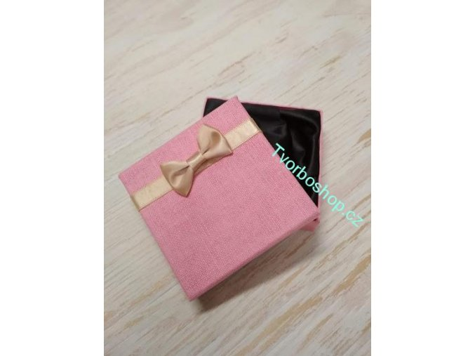 Dárková krabička s mašlí růžová