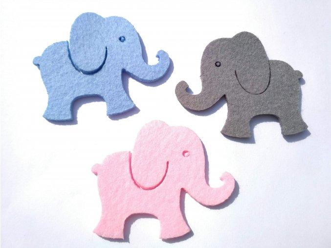 Výsek z filcu sloník sv. modrý