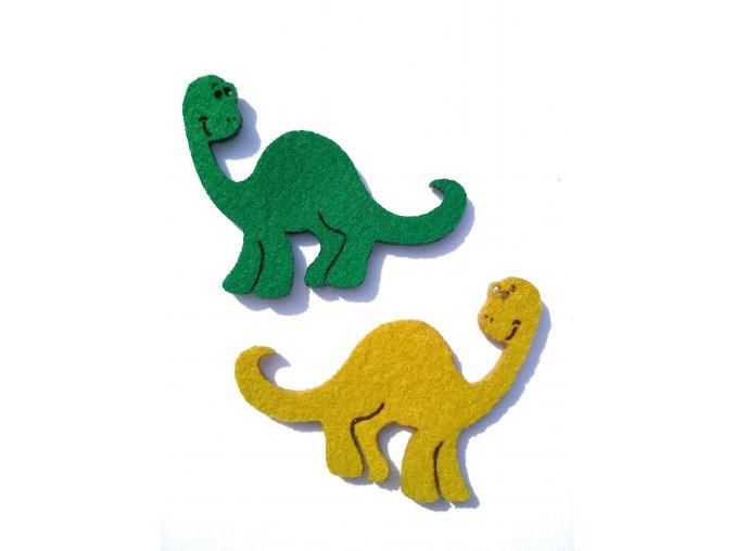Výsek z filcu dinosaurus světlejší