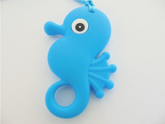 Silikonový koník modrý