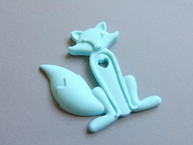 Silikonová liška sv. modrá