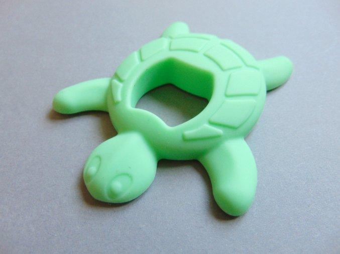Silikonová želva sv. zelená
