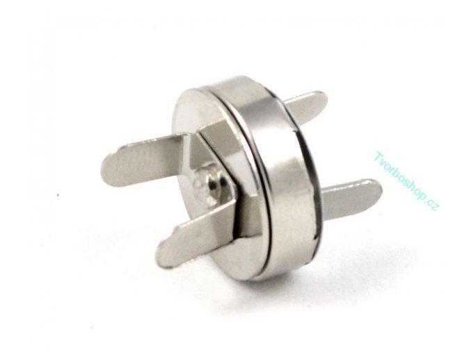 Magnetické tlačítko 18mm stříbrné