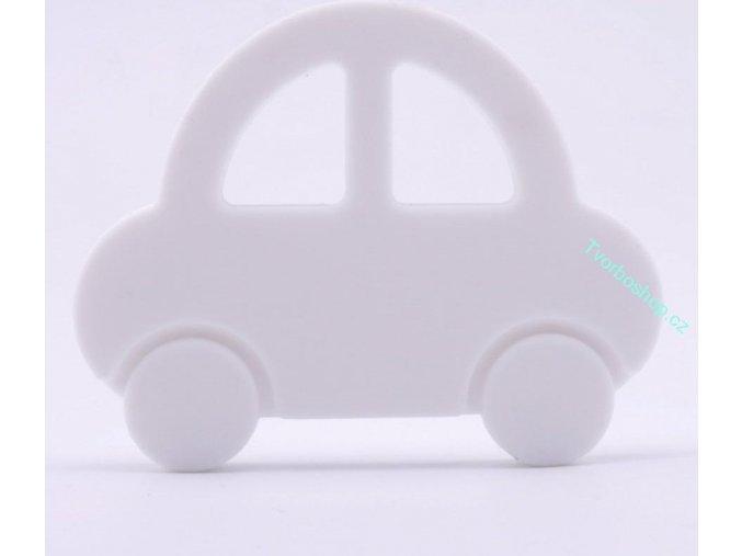 Silikonové auto bílé