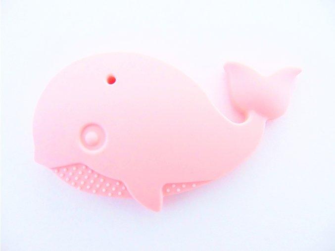 Silikonová velryba sv. růžová