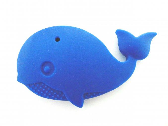 Silikonová velryba tmavě modrá