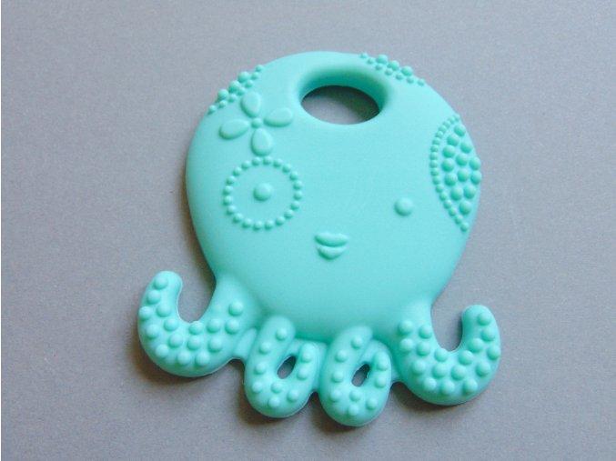 Silikonová chobotnice sv. tyrkysová