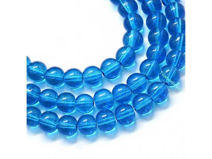 Skleněné korálky 6mm královská modř