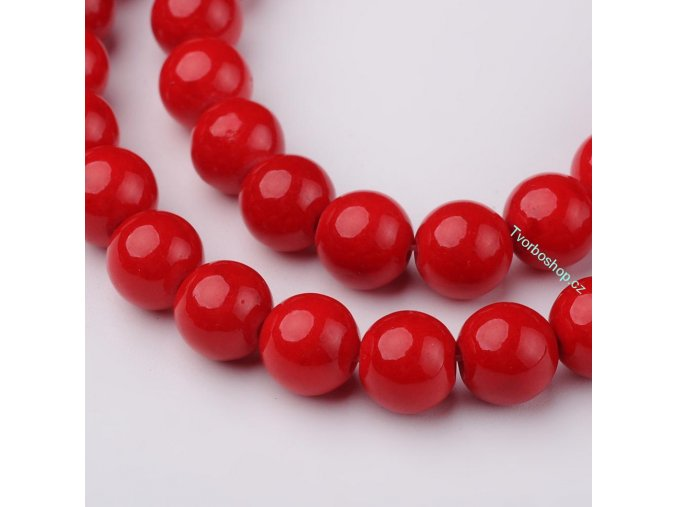 Jadeit červený2 8 mm