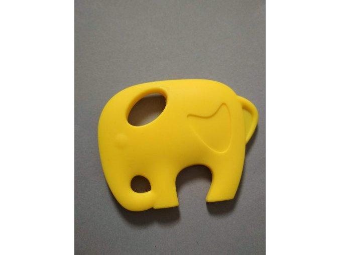 Silikonový slon žlutý