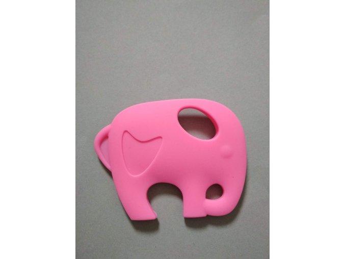 Silikonový slon růžový