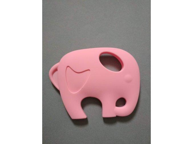 Silikonový slon sv. růžový