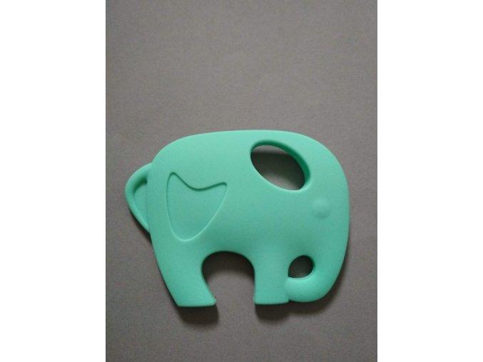 Silikonový slon zelenomodrý