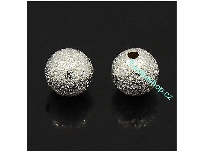 Kovové korálky 6 mm stardust stříbrné