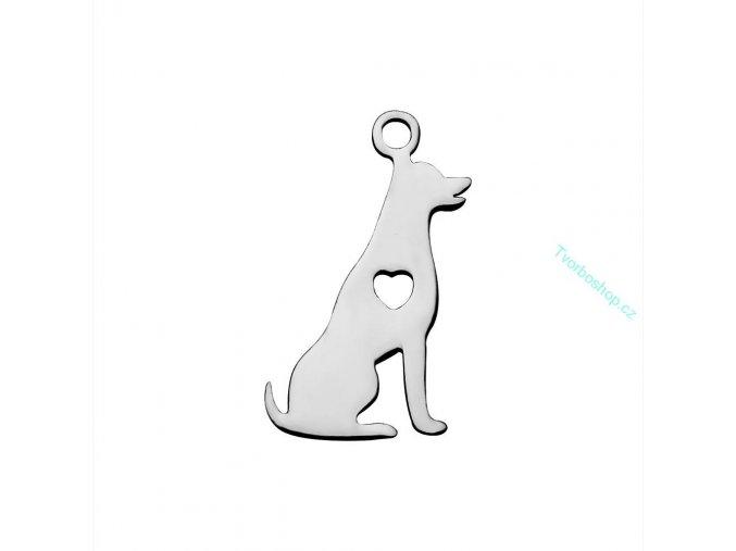 Přívěsek pes 1 chir. ocel 1 ks