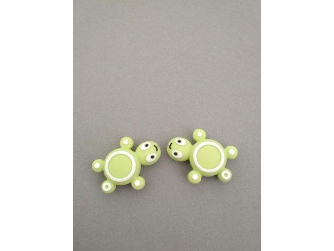 Silikonový korálek želvička malá zelená
