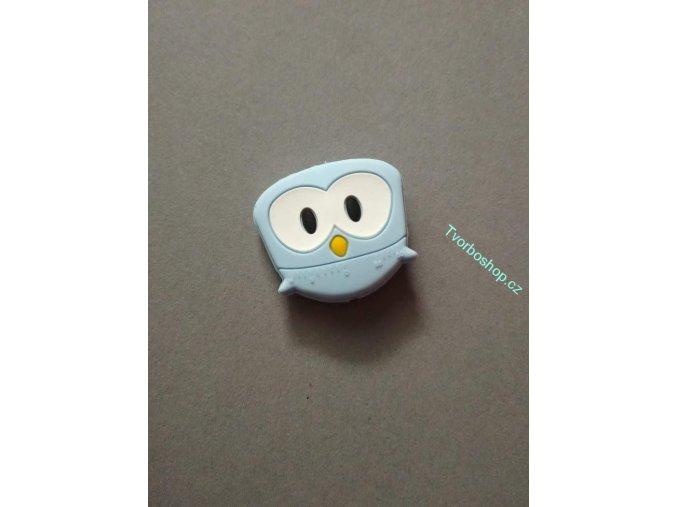 Silikonový korálek sovička malá sv. modrá