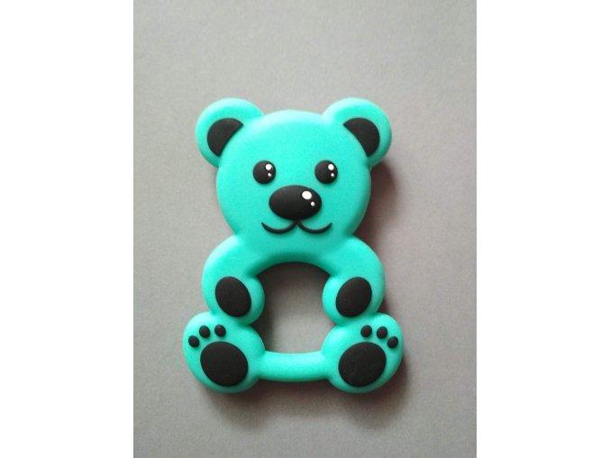 Silikonový medvěd tyrkysový