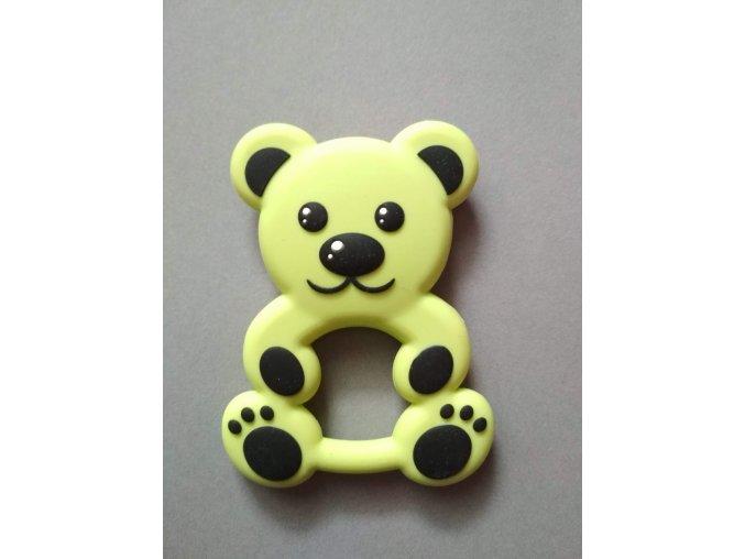 Silikonový medvěd zelený