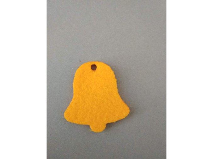 Výsek z filcu zvonek žlutý