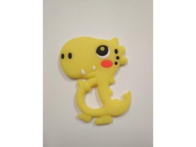 Silikonový dinosaurus žlutý