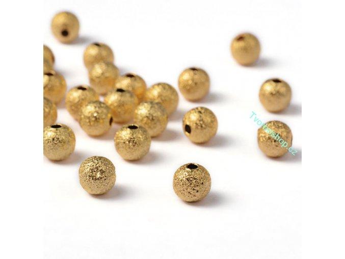 Kovové korálky 6 mm stardust zlaté