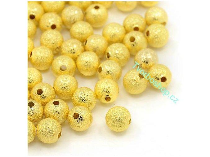 Kovové korálky 8 mm stardust zlaté