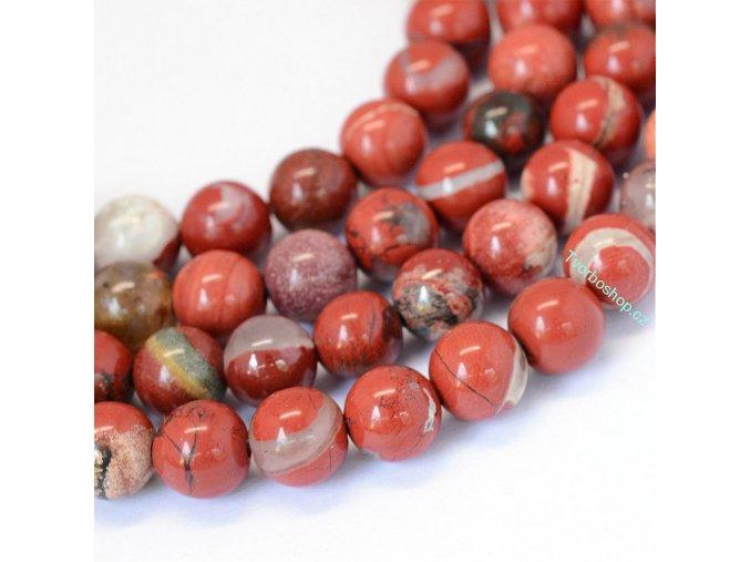 Jaspis červený 8 mm
