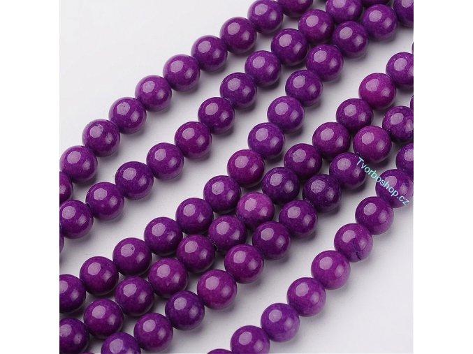 Jadeit fialový 6 mm