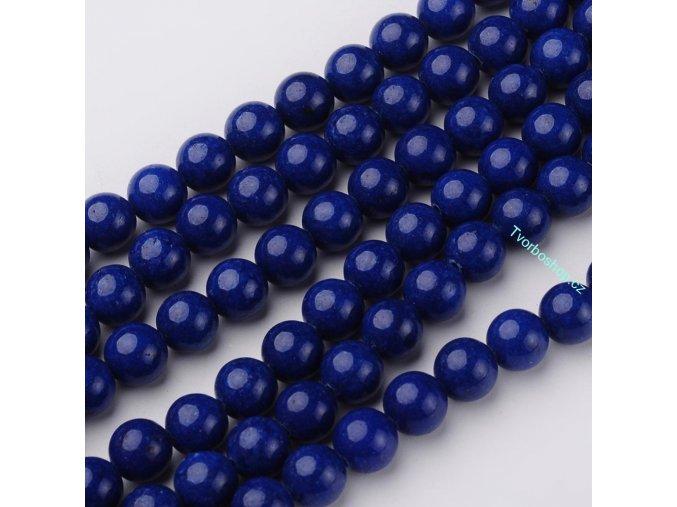 Jadeit tmavě modrý 8 mm