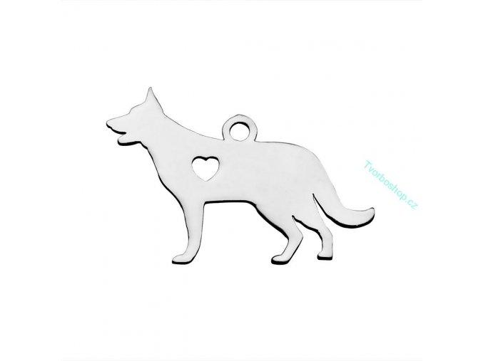 Přívěsek pes 2 chir. ocel 1 ks