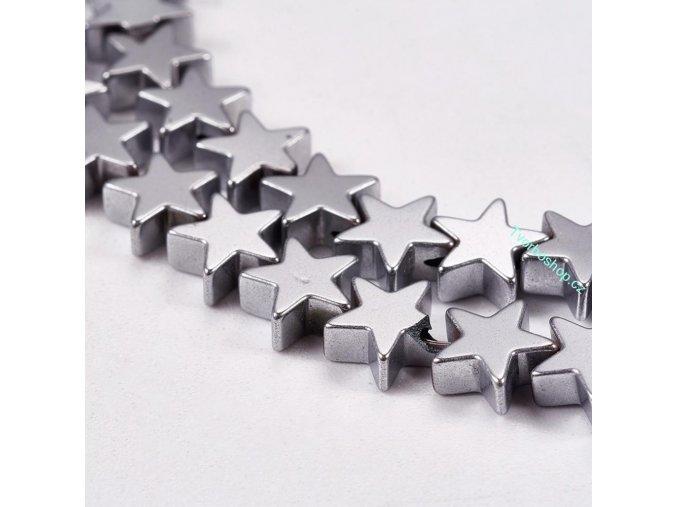 Syntetický hematit hvězdička stříbrná