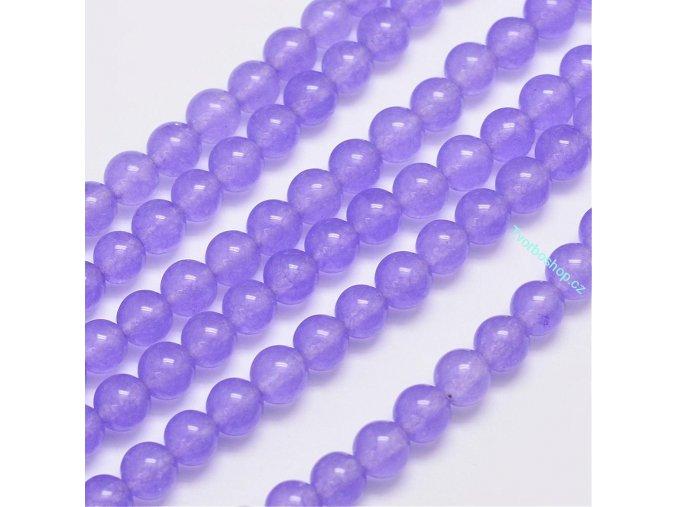 Jadeit světle fialový 6 mm