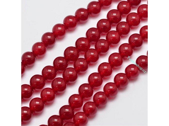 Jadeit červený3 8 mm