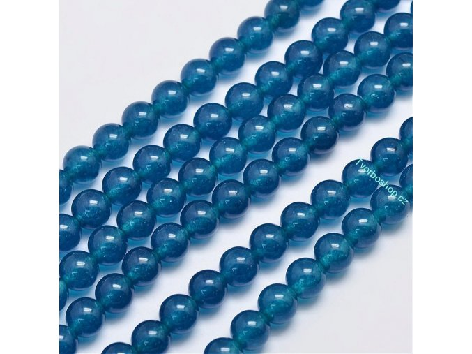 Jadeit prussian blue 8 mm
