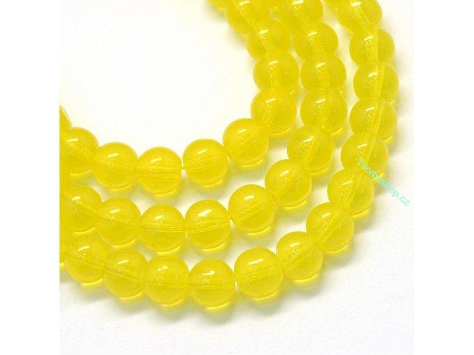Skleněné korálky 6mm žluté