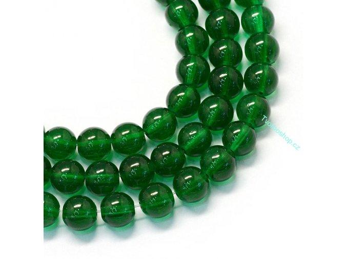 Skleněné korálky 6mm zelené