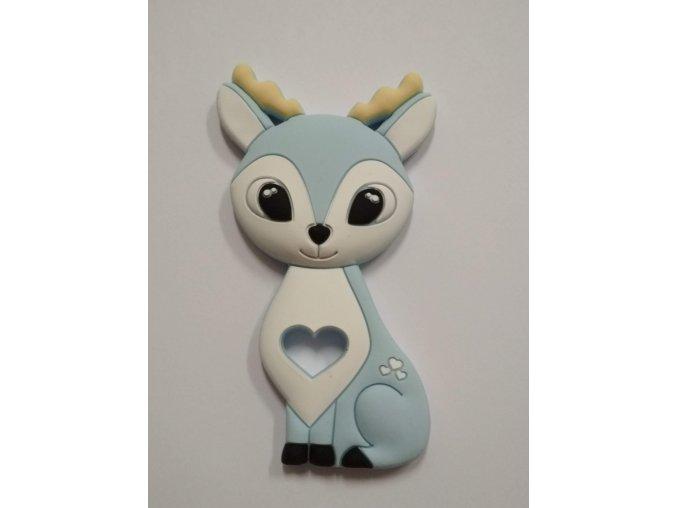 Silikonový jelen sv. modrý