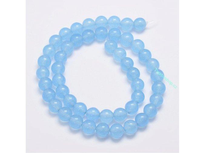 Jadeit nebesky modrý1 6 mm