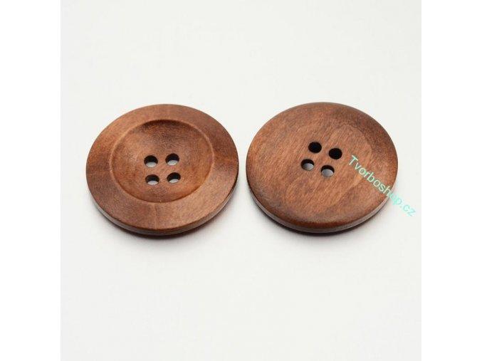 Knoflíky hnědočervené 30 mm