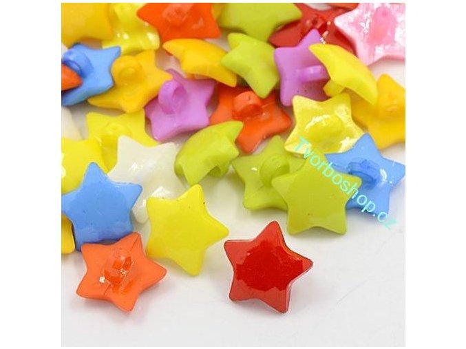 Knoflíky plastové hvězdičky