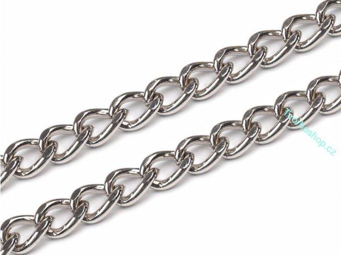 Řetěz na kabelku 120 cm stříbrný